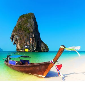Khlong on a beach in Thailand