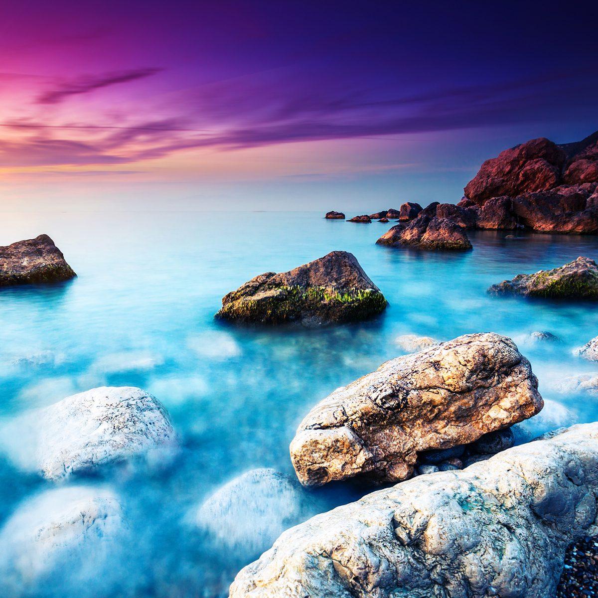 Serene lagoon scene